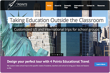 4 Points Travel website homepage