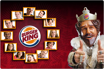 Homepage of Burger King Corporate Website
