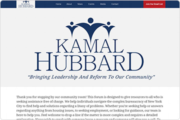 Homepage for Kamal Hubbard's website